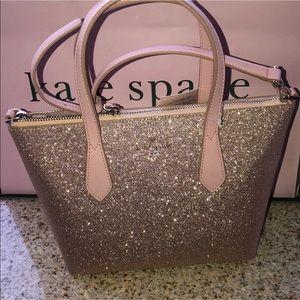 💃 Kate Spade glitter satchel + crossbody
